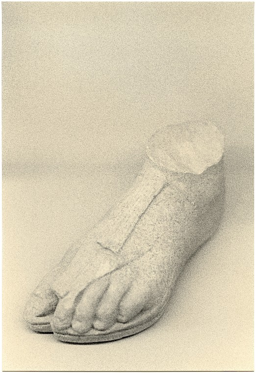 Untitled (Stone foot, 2020)